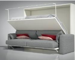 מנגנון לספה מתקפלת משולבת מיטה ללא מזרון