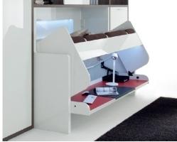 מנגנון לשולחן עבודה משולה מיטה מתקפלת