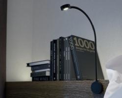 מנורה מתכווננת עם USB מובנה