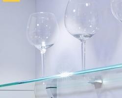 """חובק זכוכית מואר 40 מ""""מ, אור לבן 0.2W"""
