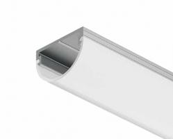 פרופיל תאורה חיצוני חלבי מעוגל לארון/מגירה 2.5 מ