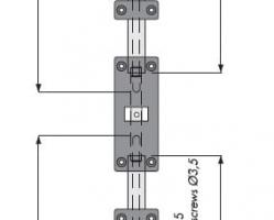 מיישר דלת דו כיווני 5 זוג באריזה