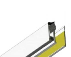 סף סגר לדלת זכוכית GLASS להתקנה חיצונית