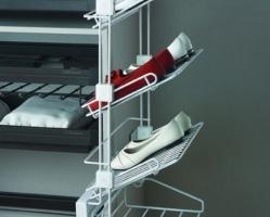 """מתקן אחסון 4 נעליים קומות ממתכת 305/478/870 מ""""מ"""